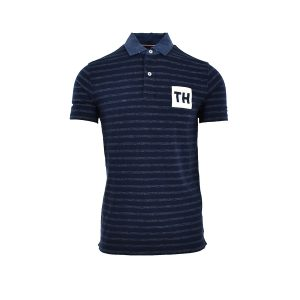 Tommy Hilfiger Polo T-Shirt Μπλε Ριγέ